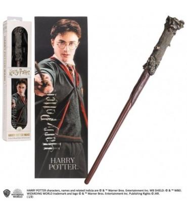Varita Mágica y Punto de Libro 3D Harry Potter