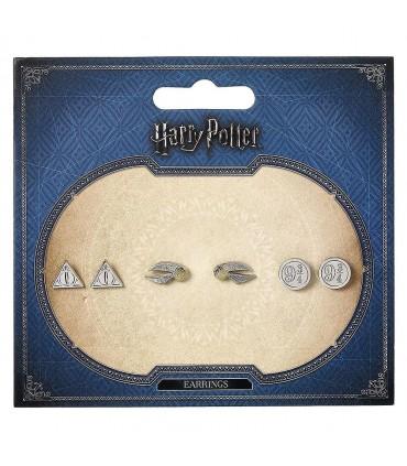 Set pendientes Deathly Hallows Golden Snitch Platform Harry Potter
