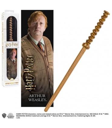 Varita mágica de Arthur Weasley con marcador 3D