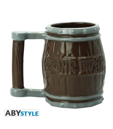 ONE PIECE TAZA 3D BARRIL