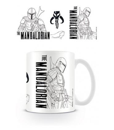 Star Wars The Mandalorian Taza Line Art