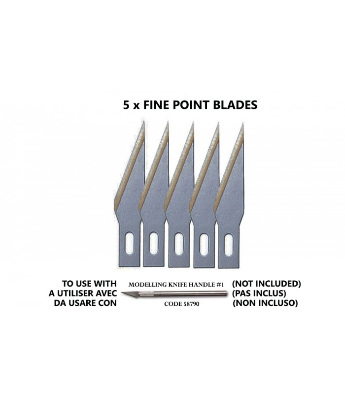 RECAMBIOS CUTTER FINE POINT BLADES (5) FOR NO.1 HANDLE